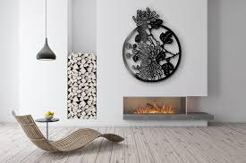 Wanddekoration Aus Metall Im Japanischen Stil Blume