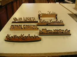 custom made personalized desk name plates