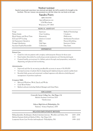 8 Medical Assistant Resume Example Cover Letter Sam Sevte Asst