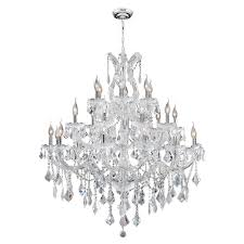 maria theresa collection 28 light chrome finish and clear crystal chandelier 38 d x 42 h