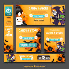 halloween sale flyer fun pack of halloween banners vector free download