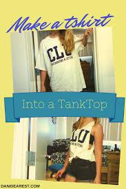 diy turning a big t shirt into a tank top