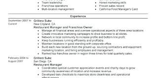 fast food manager resume restaurant manager resume template amartyasen co