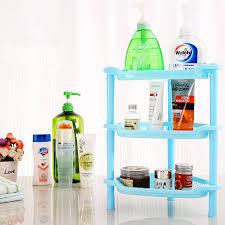 Drei Schichten Kunststoff Eckregal Badezimmer Organizer Cabinet