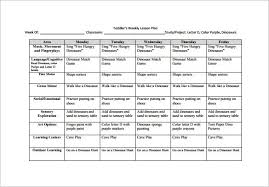Weekly Lesson Plan Templates Weekly Lesson Plan Template For Toddlers Best Resume Examples
