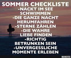 Sommer Checkliste Lustige Bilder Sprüche Witze Echt Lustig