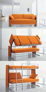 idea 4 multipurpose furniture small spaces. Furniture And Accessories. Inspiring Multipurpose For Small Spaces. Folded Bunk Bed From Convertible Couch With Orange Color Soft Idea 4 Spaces Pinterest