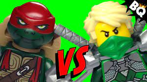 LEGO Ninja Turtles TMNT VS LEGO Ninjago Ninja Battle - BrickQueen - YouTube