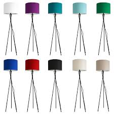 grey tall wooden base lamp with polka dot shade wahyublahe