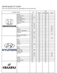 Honda Wiper Blade Size Chart Honda City Sy8 96 02 Honda Civic So4 19 18 Bosch Advantage Wiper Blade Ba1918