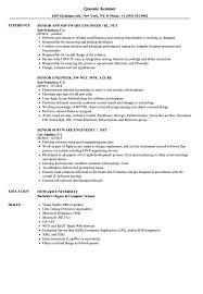Engineer Net Senior Resume Samples Velvet Jobs