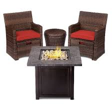 small space patio furniture sets. Halsted 5-Piece Wicker Small Space Patio Furniture Set - Threshold 4 Piece Sets D