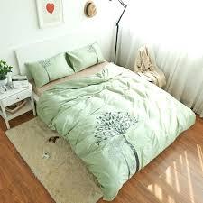 green comforter king bedding set bed sheet light green duvet cover embroidered queen king comforter sets cotton bed linen in bedding sets from home garden