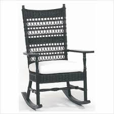 black wicker rocking chair. Simple Wicker Vineyardu0027s Wicker Rocker Throughout Black Rocking Chair A