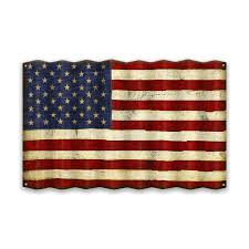 american flag corrugated metal sign