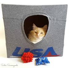 repurposed kit t shirts cat cave and fun toys