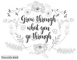 Grow Like Flowers Adult Coloring Page Favecraftscom