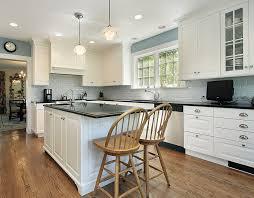 l shape kitchen with subway tile backsplash