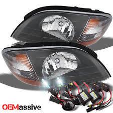 ford windstar headlights 99 03 ford windstar black replacement headlights slim ballast 6000k white hid fits ford windstar