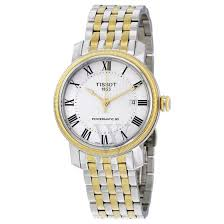 men s t classic bridgeport powermatic 80 two tone silver and gold men s t classic bridgeport powermatic 80 two tone silver and gold pvd stainless steel silver dial tissot shop by brand world of watches