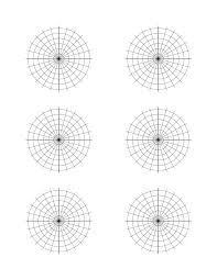 Free Printable Polar Coordinate Graph Paper Template 28 30