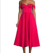 Jay Godfrey Size Chart Nwt Jay Godfrey Midi Off The Shoulder Dress Size 0 Nwt