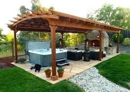 Hot Tub Backyard Ideas Plans Custom Design Inspiration