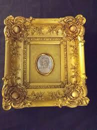 miniature portrait mrs fitzherbert ornate deep swept gilt frame