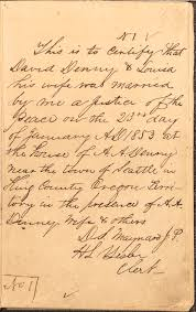 King County Marriage Records 1853 Present King County