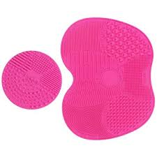 amazon makeup brush cleaning mat esarora makeup brush cleaner pad set of 2 cosmetic brush cleaning mat portable washing tool scrubber suction cup