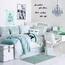 Bedroom, Remarkable Girl Teen Room Decor Girly Bedroom Decor With Soft Blue