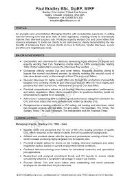 Good Cv Profile Statements In Sport Profesional Resume Template