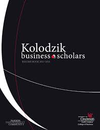 2013 2014 Kolodzik Business Scholars Resume Book By Lindner