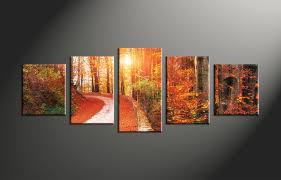 5 piece canvas prints. Unique Prints Home Decor 5 Piece Canvas Art Prints Forest Nature Huge In Piece Canvas Prints A