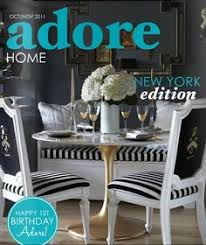the decorista s glamorous dining room on the cover of adore home magazine our gold chisel