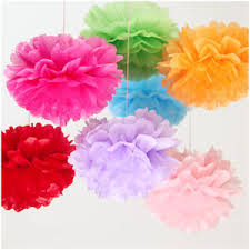 Tissue Balls Party Decorations 100 Inch 100CM Tissue Paper Pom Poms Flower Balls Wedding Birthday 55