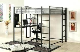 loft bed and desk full size metal loft bed with desk home improvement loft bed with