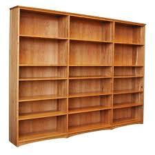 cherry bookcase with doors triple cherry bookcase cherry wood bookcases glass doors