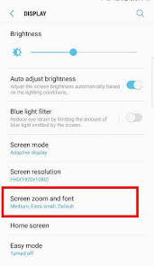how to reduce screen size how to use screen zoom to adjust the size of icons notifications
