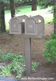 double mailbox post plans. Double Whitehall Mailbox 653 00 In Dual Post Idea 5 Plans