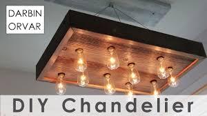 diy string light chandelier for 40