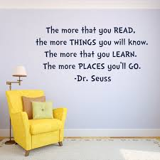 Wall Decal Quotes Beauteous The More You Read Dr Seuss Wall Decal Kids Room Decor Dr