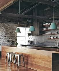 industrial kitchen furniture. Dark Rustic Ceiling And Lots Of Other Lements Make This Kitchen Design Truly Industrial Furniture