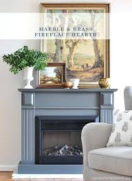 marble slab for fireplace hearth easy marble and brass fireplace hearth the painted hive marble slab