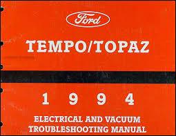 1994 ford tempo mercury topaz repair shop manual original 1994 ford tempo mercury topaz electrical vacuum troubleshooting manual