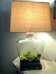 fillable table lamp table lamp table lamp glass table lamp base clear oval large create jar