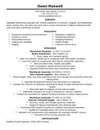 Warehouse Resume Simple Warehouse Resume Objective Example Resume Warehouse Worker Resume