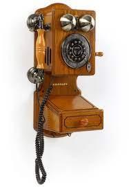 retro vintage telephone wall mount