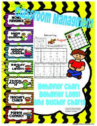 Classroom Management Chart Ideas Classroom Management Behavior Clip Chart Behavior Logs And Sticker Charts