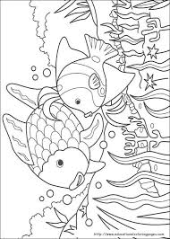 chic and creative rainbow fish coloring pages free for kids print page book worksheet printable sheets